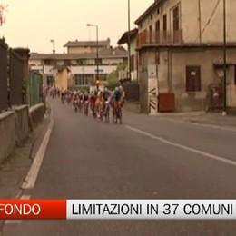 Granfondo Gimondi, strade chiuse in 37 Comuni