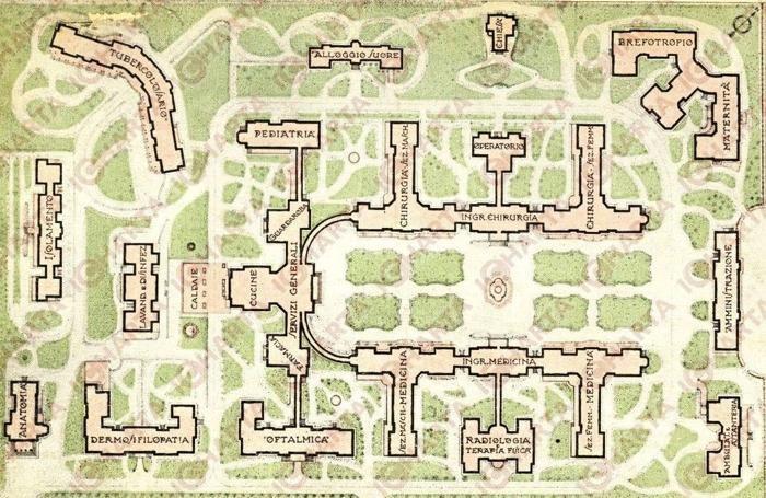 Una piantina dell'epoca