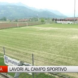 Rovetta, lavori al campo sportivo Marinoni