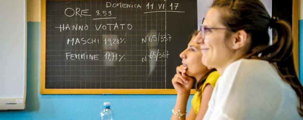 Affluenza definitiva: ha votato il 57,6%  Carona mette tutti in fila: 75,6%