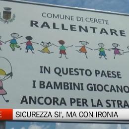 Cerete, cartelli per la sicurezza dei bambini