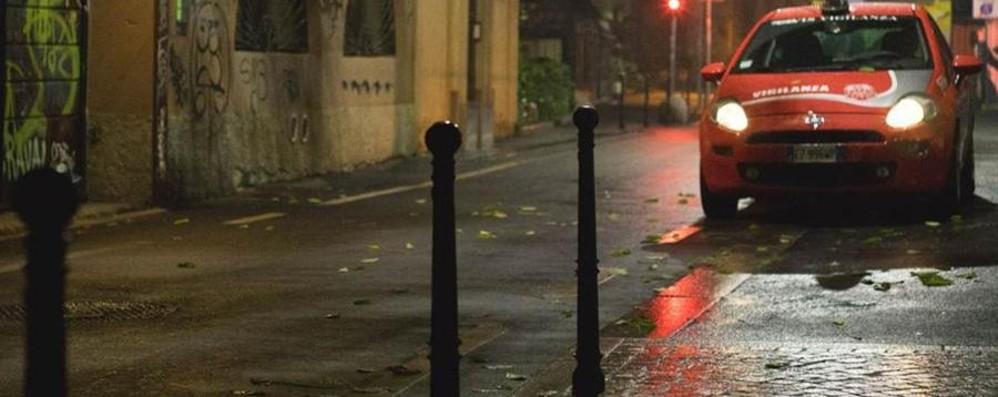 Guardie giurate nei quartieri di notte  Bergamo, in autunno vigilantes in azione