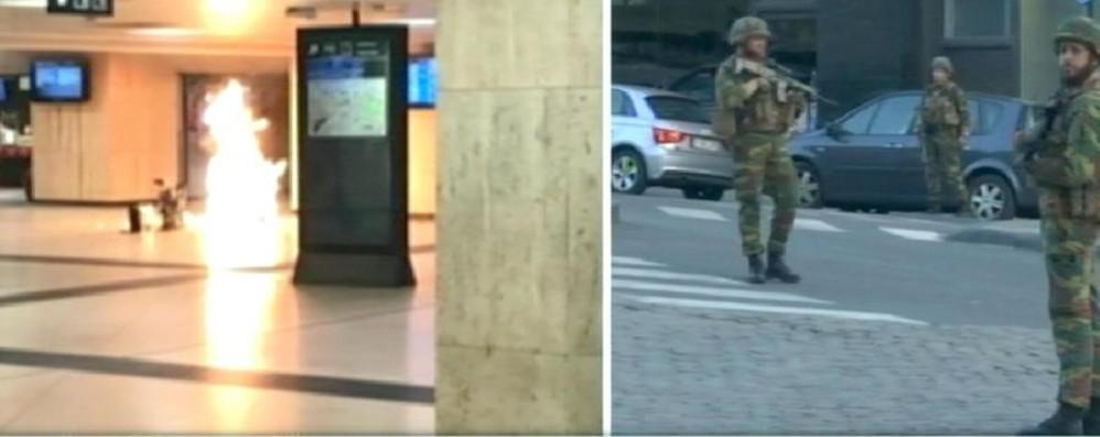 Bruxelles, esplosione in stazione  In azione un kamikaze - Foto