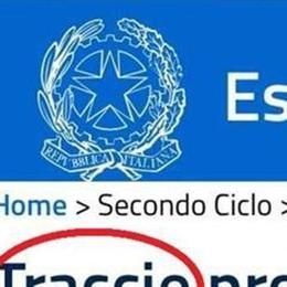 Ministero, errore da matita rossa sul sito dei temi dell'Esame di Stato