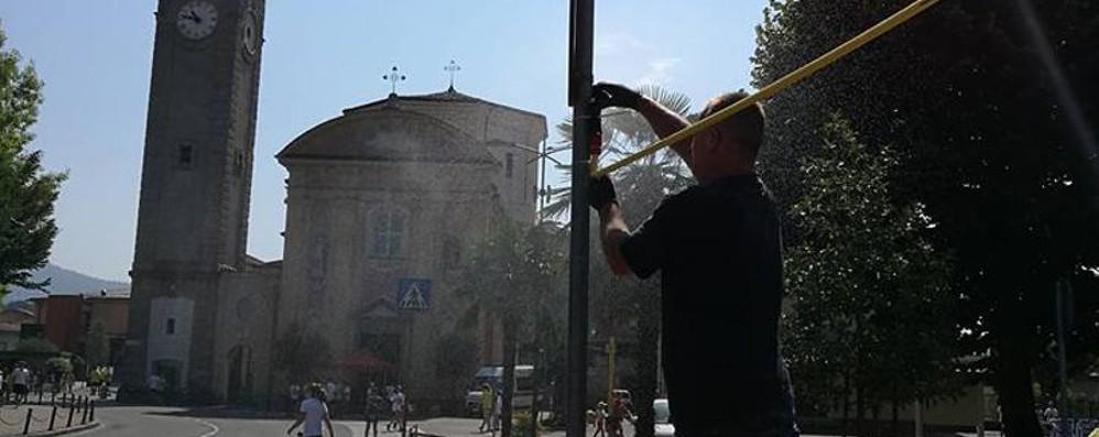 Allerta meteo, stavolta per il caldo Ad Almé nebulizzatori in strada