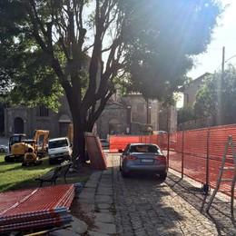 Città Alta, al via i lavori in Porta Dipinta «Verranno usate le pietre esistenti»