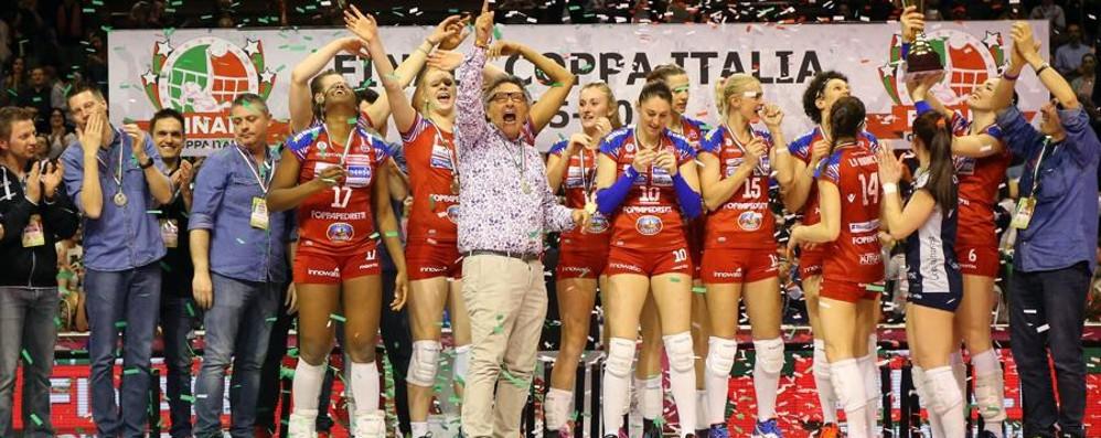 Foppapedretti, una storia lunga 25 anni Il volley ha portato Bergamo nel mondo