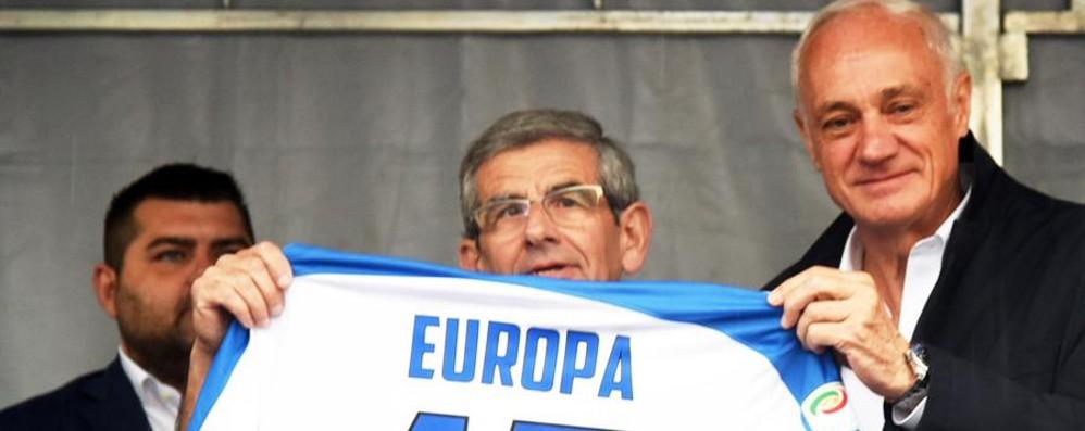 Il presidente Percassi alla camminata  Atalanta competitiva anche in Europa