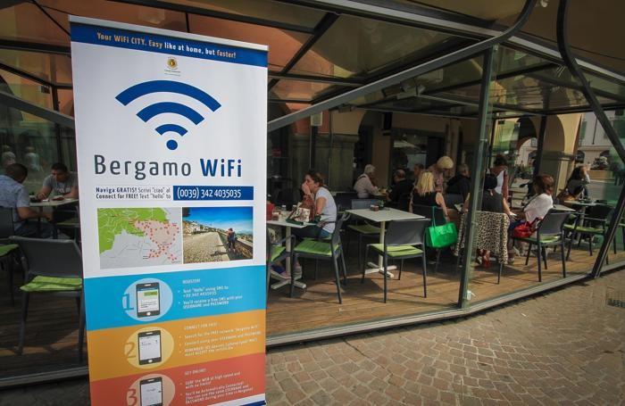 pannelli pubblicitari a bergamo wifi collegamento internet