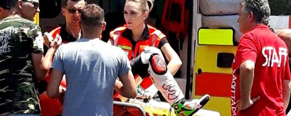 Max Biaggi, condizioni stazionarie «Escluse lesioni midollari»