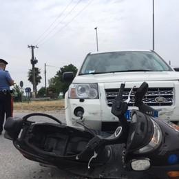 Schianto tra un'auto e una moto A Ghisalba gravissimo un 33enne