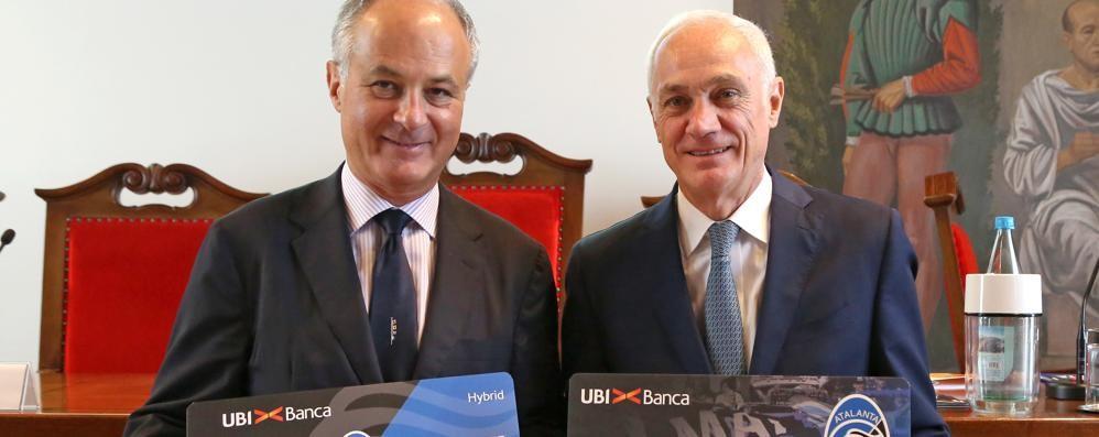 Atalanta, partnership con Ubi Banca  Presto le carte di credito nerazzurre