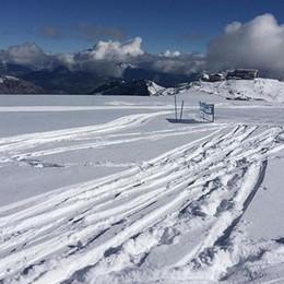 In montagna 1 luglio con la neve E a Foppolo c'erano 3 gradi - Foto