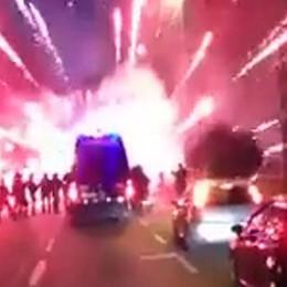 Gli scontri dopo Atalanta-Inter Condannati 9 ultrà (uno tedesco)