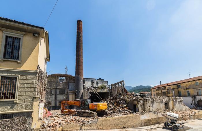 La demolizione della ex Pigna