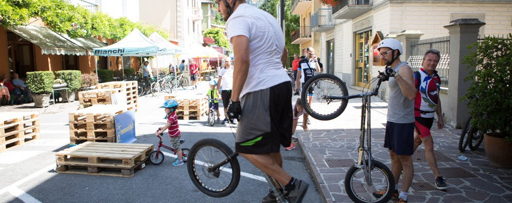 Successo per l'Orobie Bike Fest  A Piazza Brembana con L'Eco café
