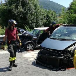 Gazzaniga, scontro tra cinque auto Coinvolta anche donna incinta - Foto