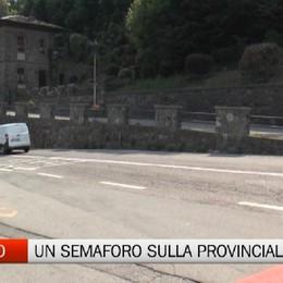 Gromo, un nuovo semaforo sulla strada provinciale