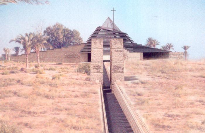 Una chiesa progettata da Sonzogni in Giordania