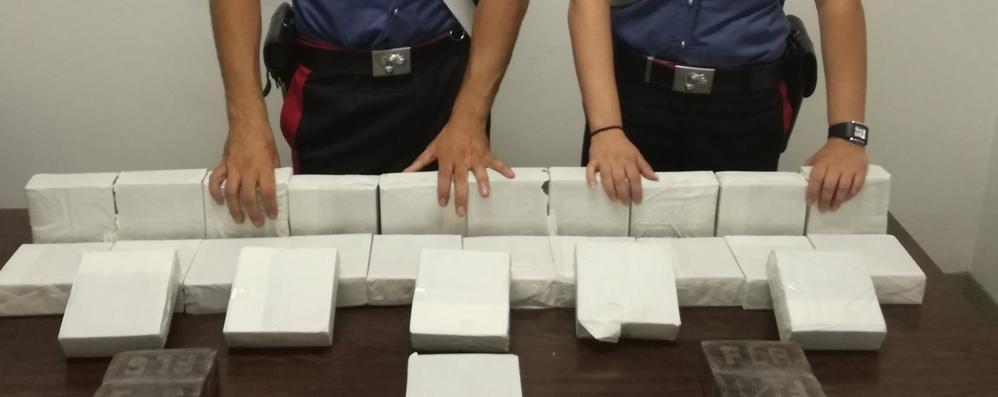 Filago, trovati 30 kg di hashish Avrebbero fruttato 50mila euro