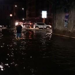 Notte di pioggia, allagamenti a Colognola Sebino, lago ko. Si teme per il super caldo