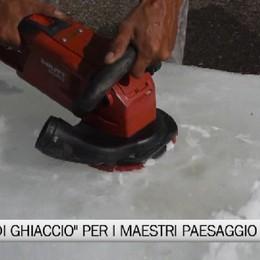 Piazza Vecchia «ghiacciata»   Prove tecniche dei maestri del paesaggio