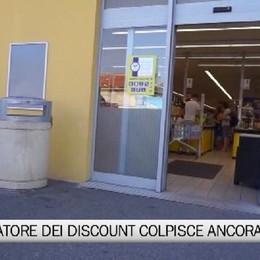 Il rapinatore dei discount colpisce ancora