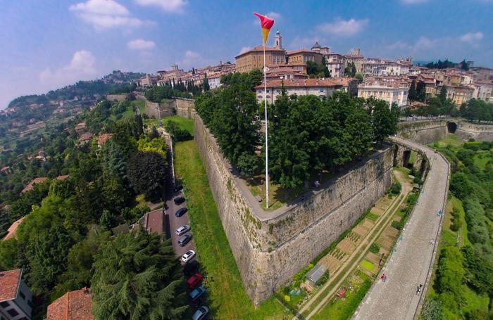 Bergamo - città alta e mura venete
