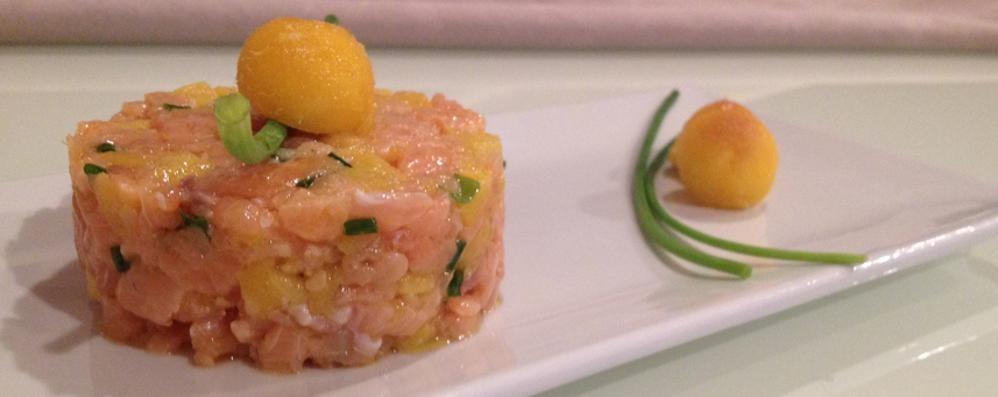 La tartare di salmone al profumo di mango