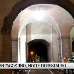 Porta Sant'Agostino, notte di restauro