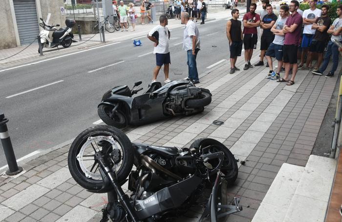Le moto coinvolte nell'incidente