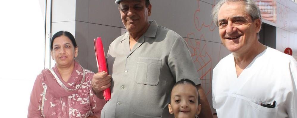 Il piccolo Zoraiz, salvato al Papa Giovanni «Sarò medico e aiuterò i pakistani»