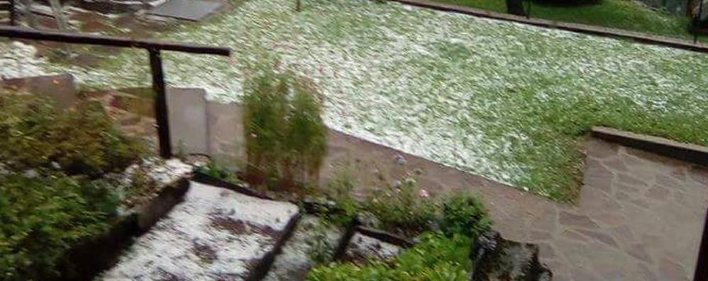 Ancora maltempo in Bergamasca Grandine in Val Seriana - Foto/Video