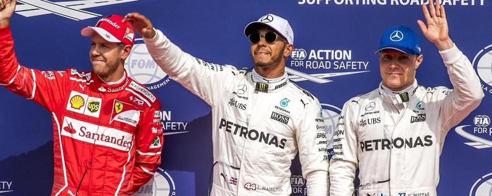 Formula Uno, pole per Hamilton   La Ferrari di Vettel in seconda posizione