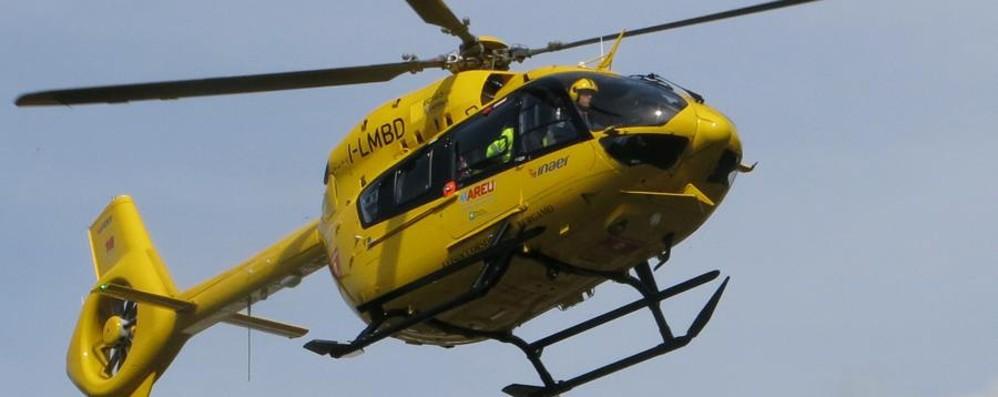 Scontro tra auto e moto a Costa Volpino Grave 45enne, trasportato in elisoccorso