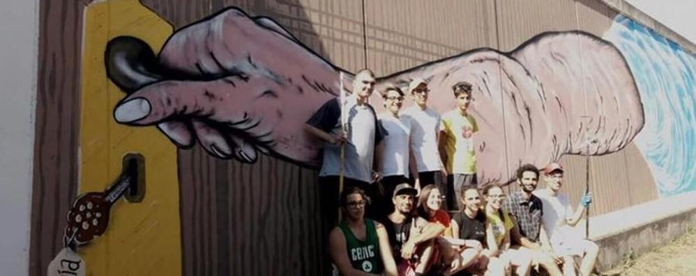 Street art e riqualificazione urbana A Torre Boldone la nuova sfida del «Baro»