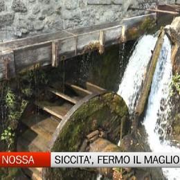 Ponte Nossa, la siccità ferma il maglio