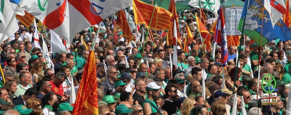 Lega, il 17 settembre Pontida Sul pratone per il referendum