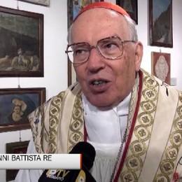 Santuario della Cornabusa, cardinal Re:  «Nel mondo con Bergamo nel cuore»