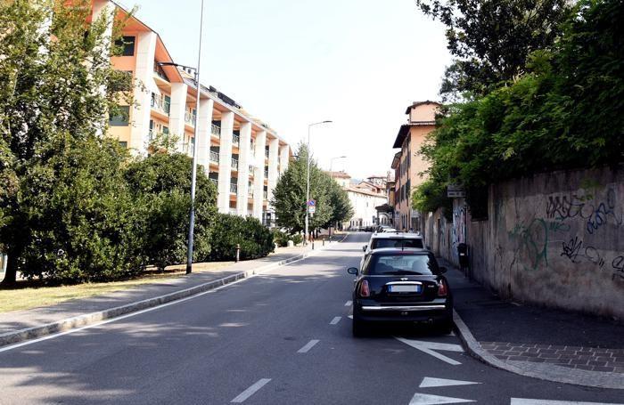 Via San Lazzaro nel 2017