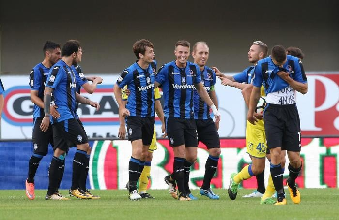 Atalanta?s Josip Ilicic celebrates after scoring the goal of 0-1 (not convalidated, by the VAR, Video Assistent Referee