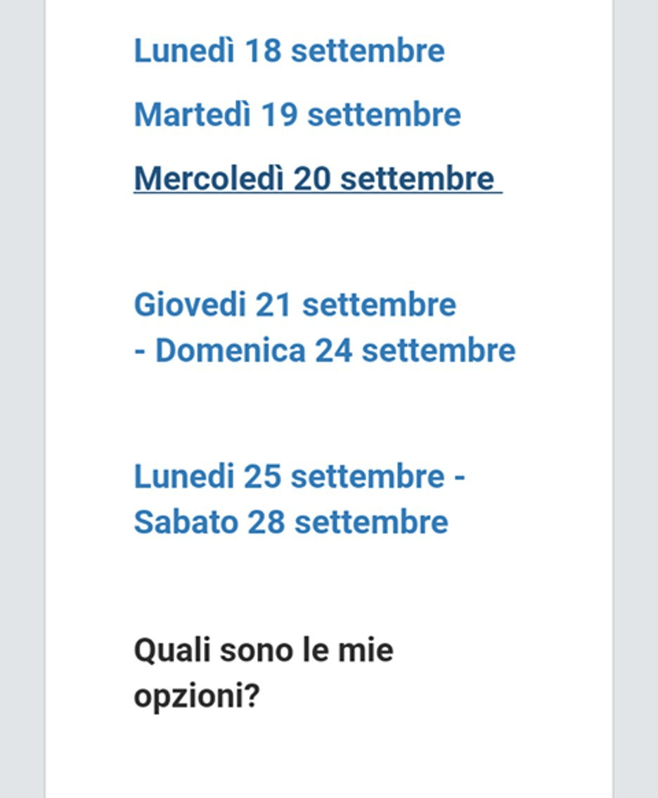 Lo screenshot dell'errore