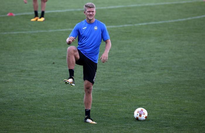 Uefa Europa League allenamento atalanta al mapei stadium di reggio emila cornelius andreas