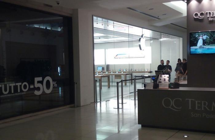 Oriocenter ore 7, ecco come si presentava l'Apple Store