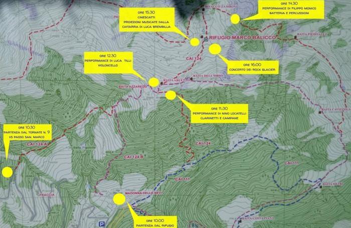 budrock festival la mappa degli eventi