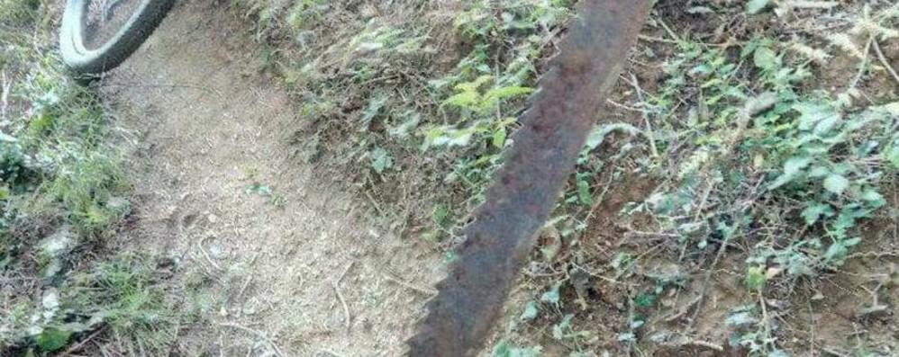 Follia nei boschi di Entratico Trappole sul sentiero delle Mtb