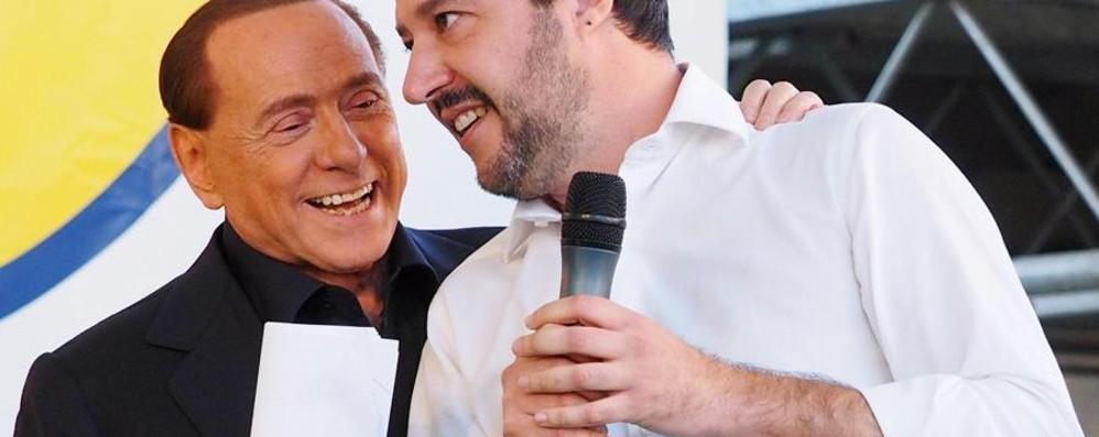 Berlusconi e Salvini,  amici nemici