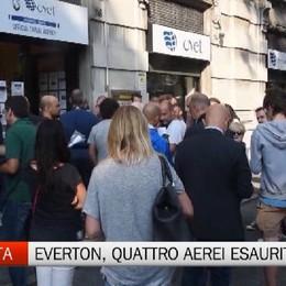 Per Everton-Atalanta  esauriti quattro aerei in tre ore