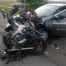 Terribile scontro a Soncino Ferito motociclista di Barbata