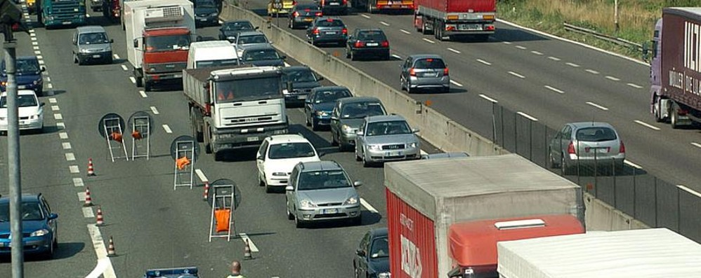 Grave incidente in autostrada Code tra Capriate e Bergamo